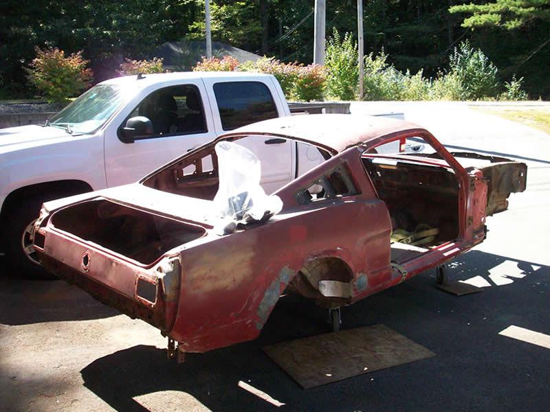 Muscle Car Metal Mustang Body Shell